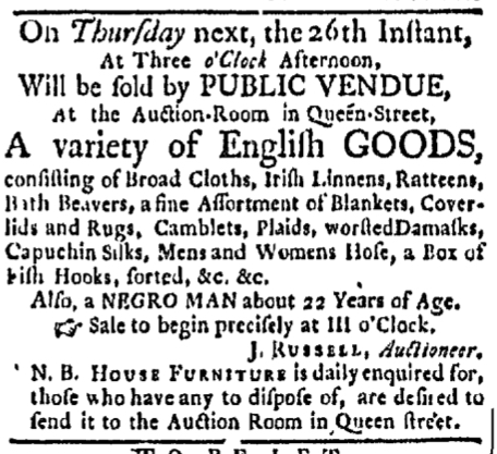 Nov 23 - Boston Evening-Post Slavery 1