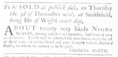 Nov 26 - Virginia Gazette Slavery 6
