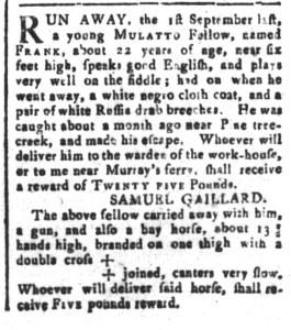 Nov 27 - South-Carolina and American General Gazette Slavery 3