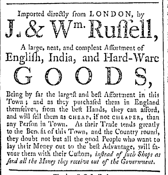 Dec 19 - 12:19:1767 Providence Gazette