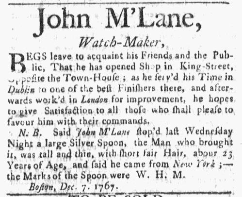 Dec 21 - 12:21:1767 Boston Post-Boy
