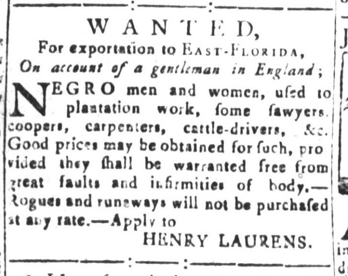 Jan 1 - South-Carolina and American General Gazette Slavery 5