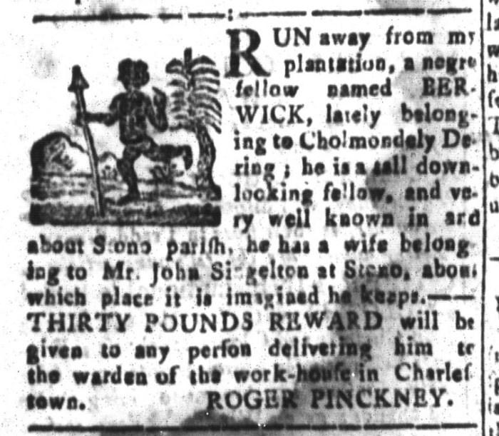 Jan 1 - South-Carolina and American General Gazette Slavery 8