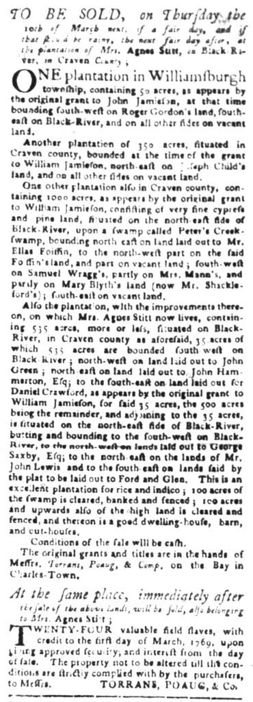 Feb 1 - South Carolina Gazette Slavery 2