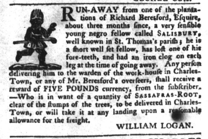Feb 2 - South-Carolina Gazette and Country Journal Slavery 12