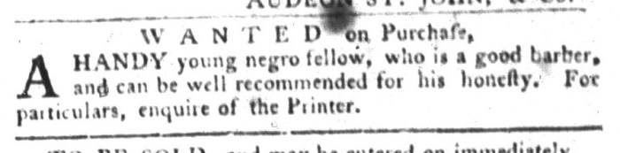 Feb 2 - South-Carolina Gazette and Country Journal Slavery 5