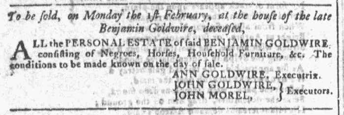 Jan 13 - Georgia Gazette Slavery 8