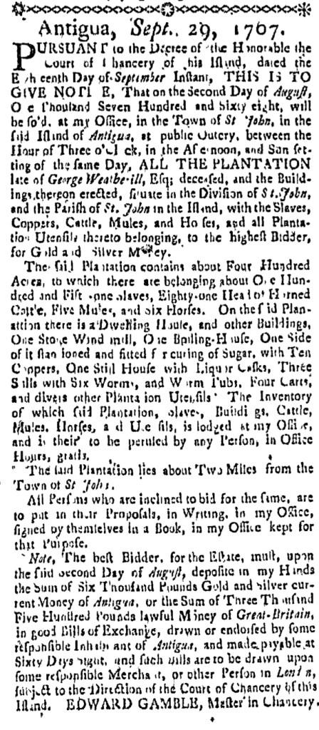 Jan 14 - Massachusetts Gazette Slavery 2