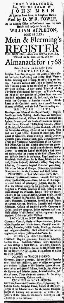 Jan 15 - 1:15:1768 New-Hampshire Gazette