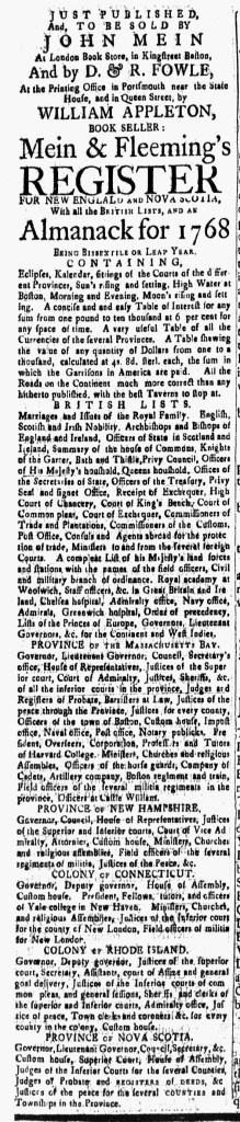 Jan 15 - 1:15:1768 New-Hampshire Gazette