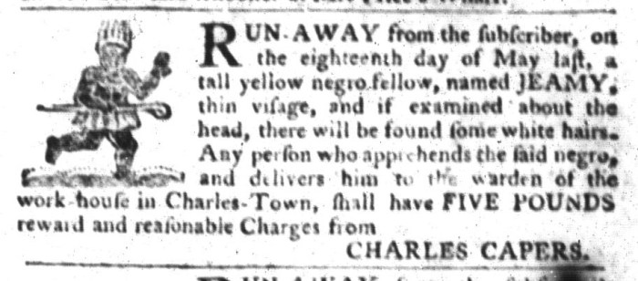Jan 19 - South-Carolina Gazette and Country Journal Slavery 8