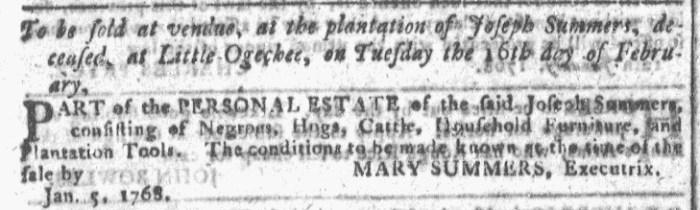 Jan 20 - Georgia Gazette Slavery 4
