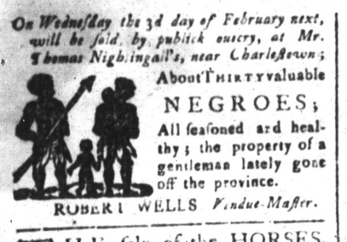 Jan 22 - South-Carolina and American General Gazette Slavery 1