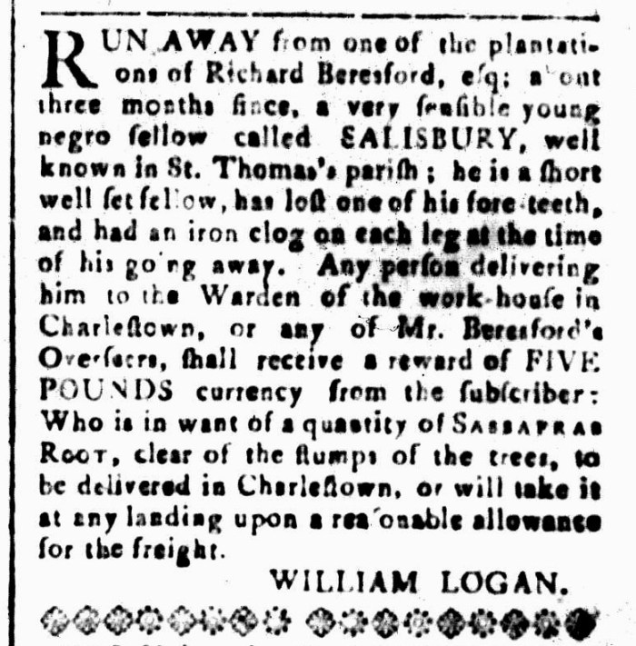 Jan 22 - South-Carolina and American General Gazette Slavery 12