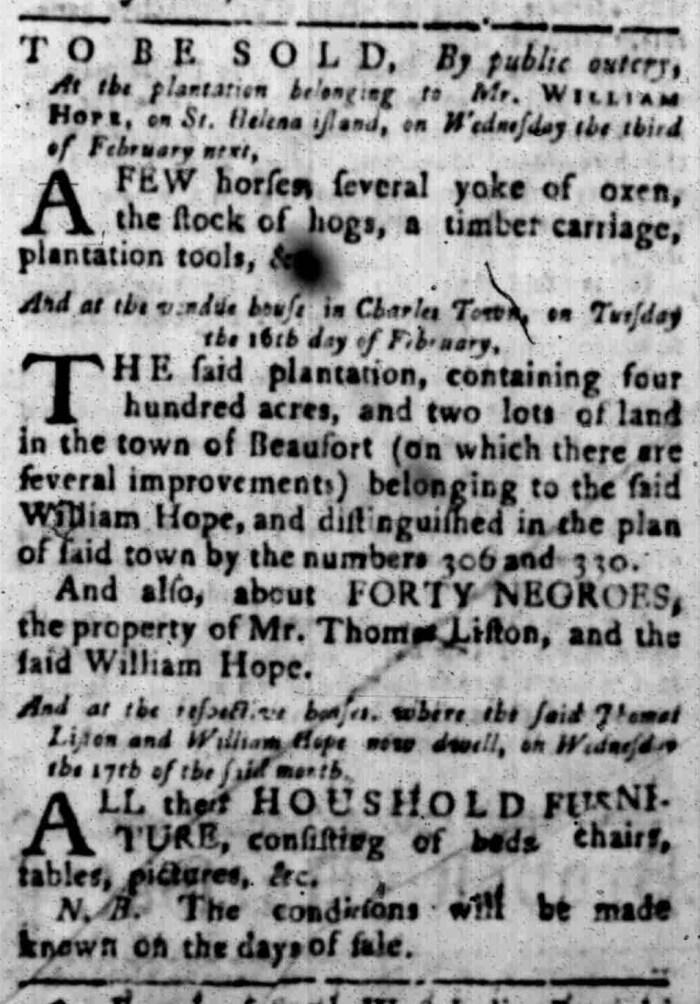 Jan 25 - South Carolina Gazette Slavery 2