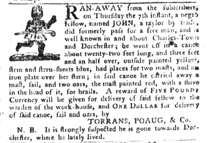 Jan 26 - South-Carolina Gazette and Country Journal Supplement Slavery 8