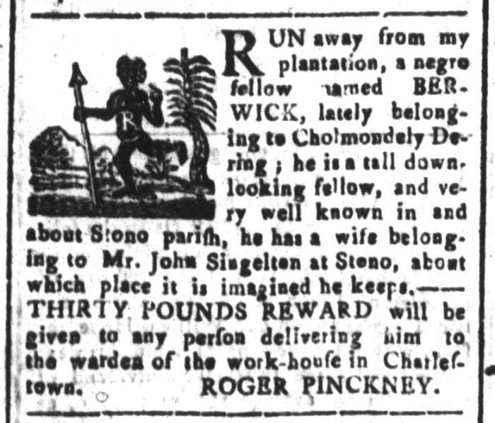 Jan 29 - South-Carolina and American General Gazette Slavery 11