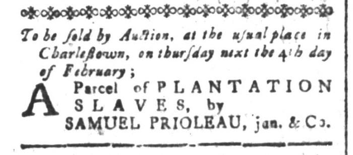 Jan 29 - South-Carolina and American General Gazette Slavery 2