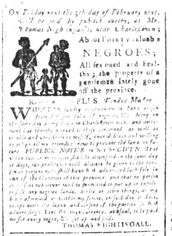 Jan 29 - South-Carolina and American General Gazette Slavery 3