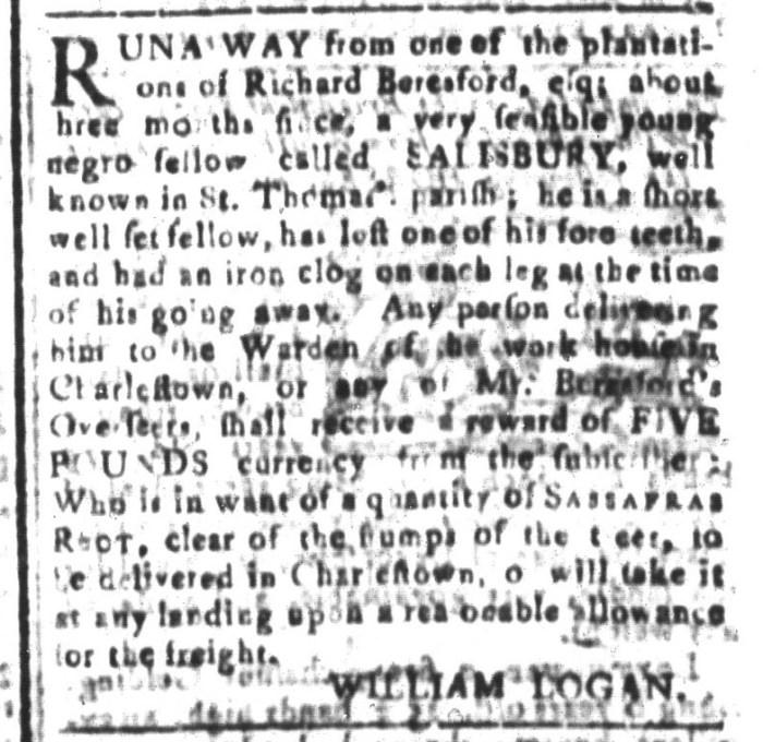 Jan 29 - South-Carolina and American General Gazette Slavery 6