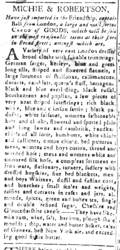 Jan 3 - 1:1:1768 South-Carolina and American General Gazette