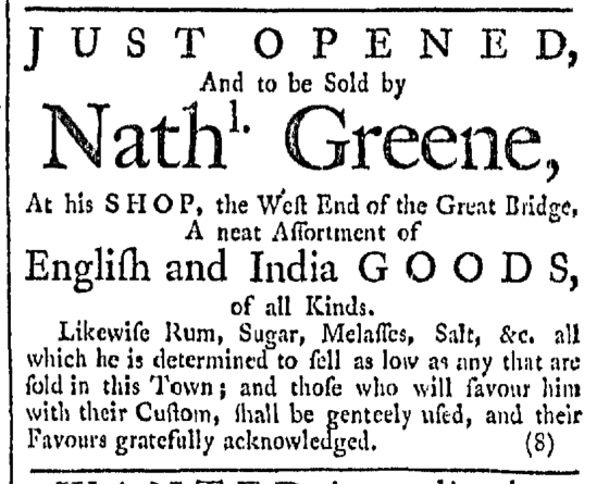 Jan 30 - 1:30:1768 Providence Gazette