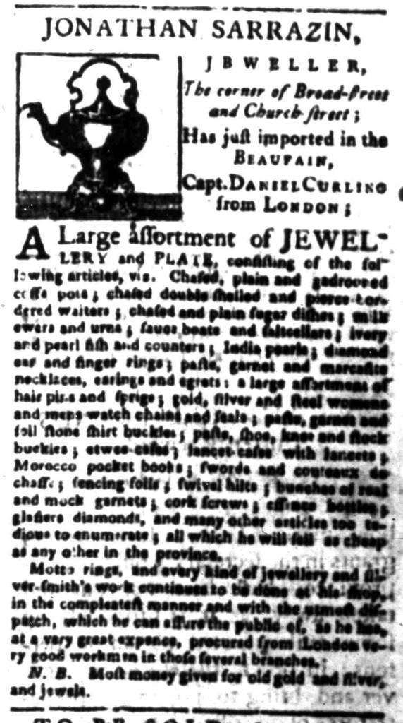 Jan 4 - 1:4:1767 South-Carolina Gazette