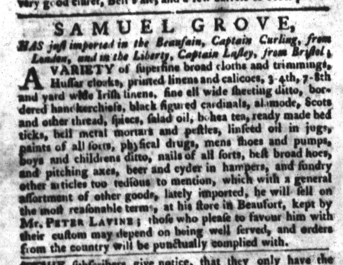 Jan 5 - 1:5:1768 South-Carolina Gazette and Country Journal