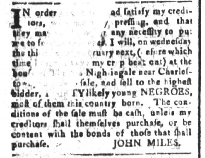 Jan 8 - South-Carolina and American General Gazette Slavery 10