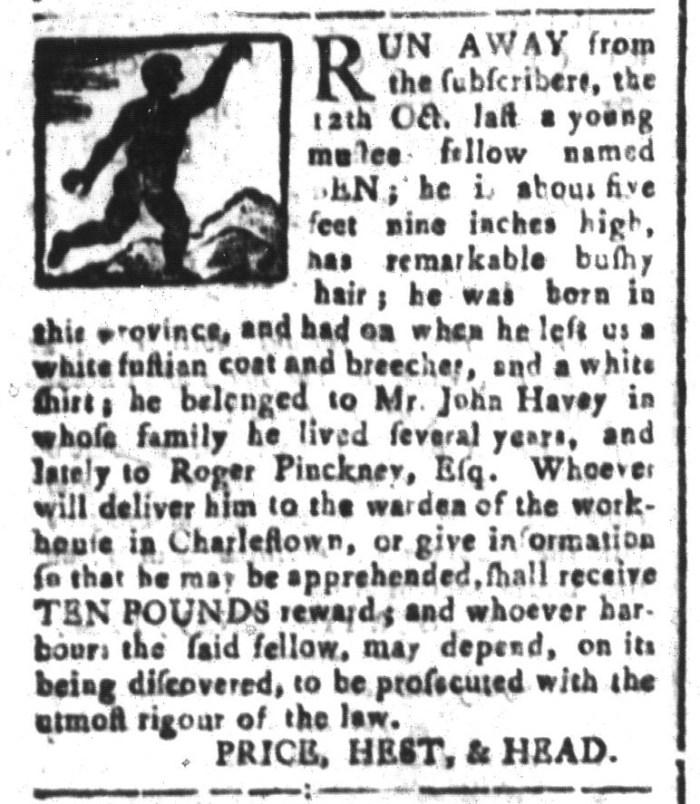 Jan 8 - South-Carolina and American General Gazette Slavery 11