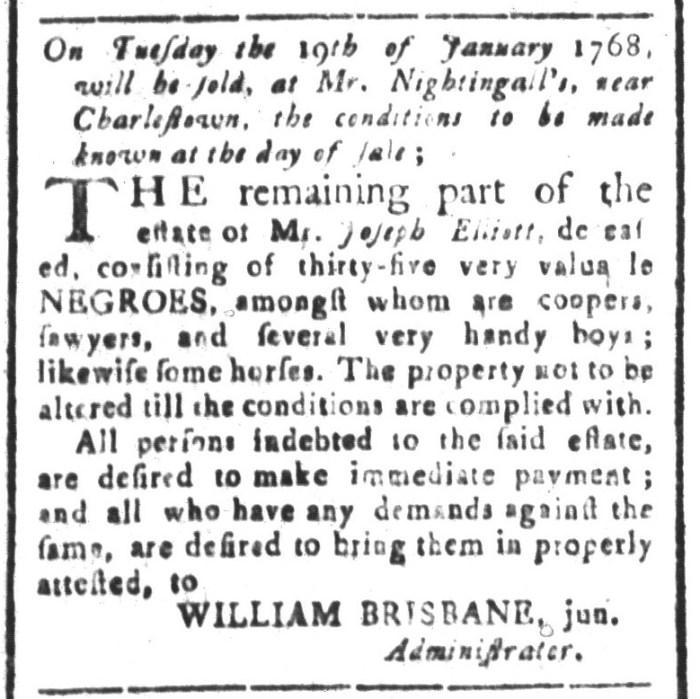 Jan 8 - South-Carolina and American General Gazette Slavery 13