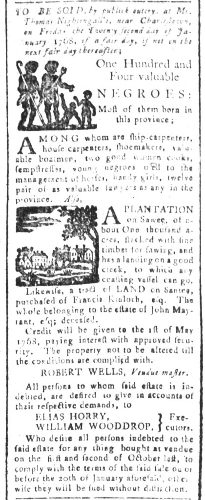 Jan 8 - South-Carolina and American General Gazette Slavery 6