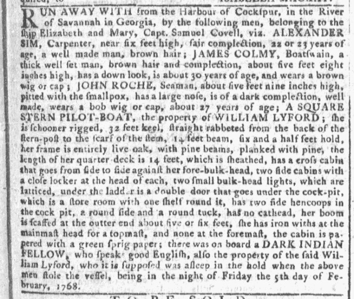 Feb 10 - 2:10:1768 Georgia Gazette