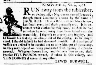 Feb 11 - Virginia Gazette Purdie and Dixon Slavery 3