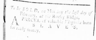 Feb 11 - Virginia Gazette Rind Slavery 1