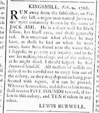 Feb 11 - Virginia Gazette Rind Slavery 3
