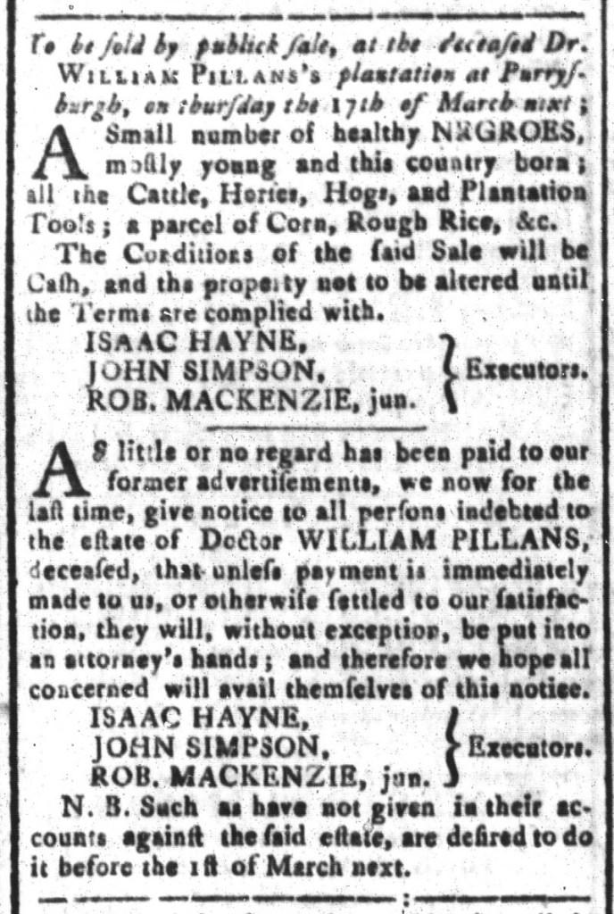 Feb 12 - South-Carolina and American General Gazette Slavery 5