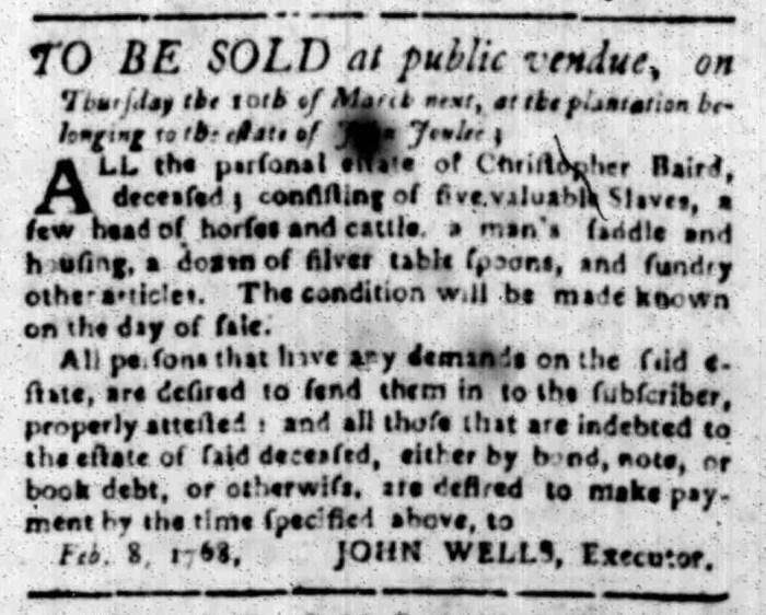 Feb 15 - South Carolina Gazette Slavery 7