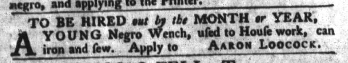 Feb 16 - South-Carolina Gazette and Country Journal Addition Slavery 2