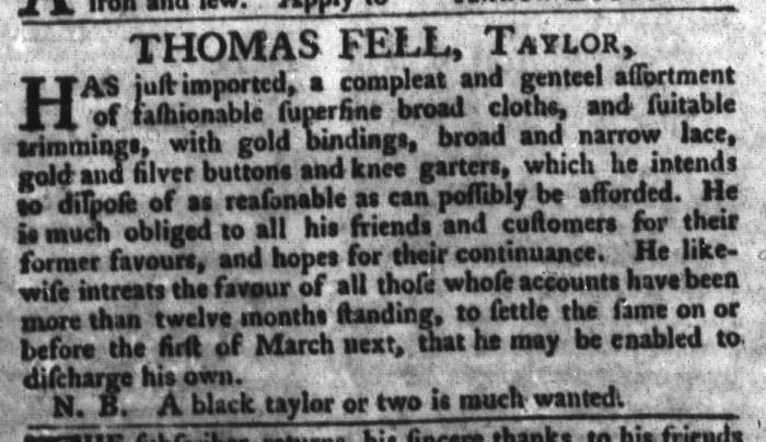 Feb 16 - South-Carolina Gazette and Country Journal Addition Slavery 3
