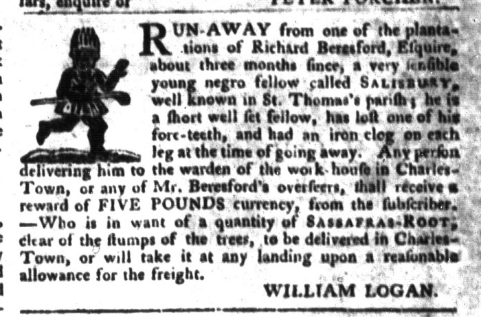 Feb 16 - South-Carolina Gazette and Country Journal Supplement Slavery 2