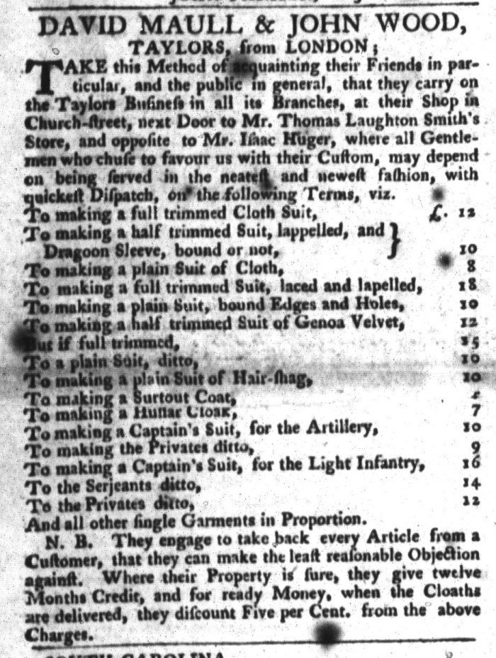 Feb 2 - 2:2:1768 South-Carolina Gazette and Country Journal