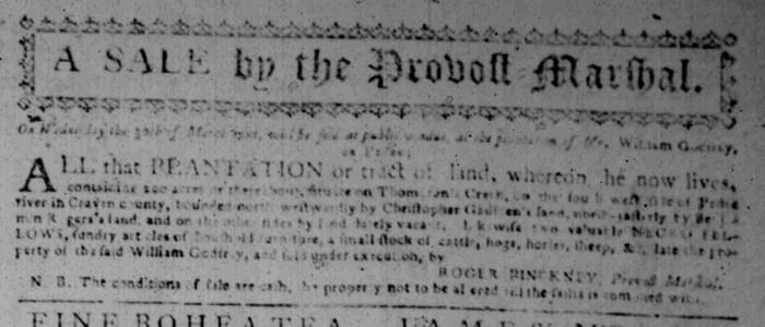 Feb 22 - South Carolina Gazette Slavery 7