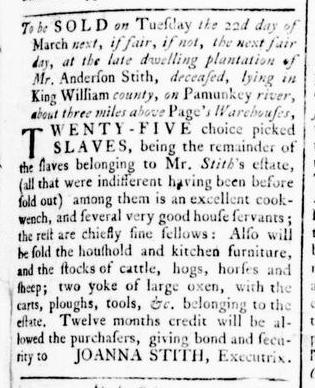 Feb 25 - Virginia Gazette Rind Slavery 2