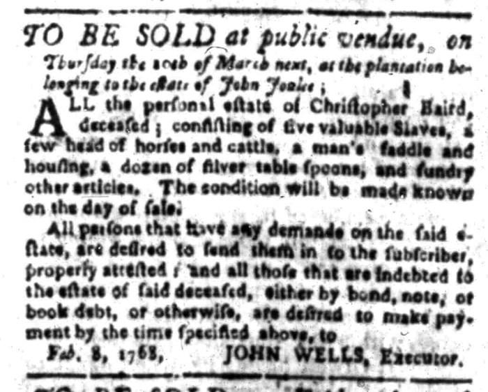 Feb 29 - South Carolina Gazette Slavery 5