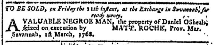 Mar 2 - Georgia Gazette Slavery 1