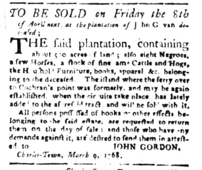 Apr 4 - South Carolina Gazette Slavery 4