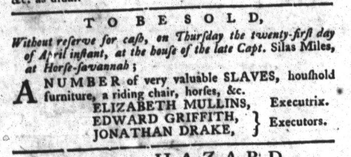 Apr 5 - South-Carolina Gazette and Country Journal Slavery 3