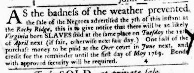 Apr 7 - Virginia Gazette Purdie and Dixon Slavery 5