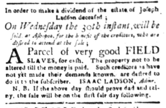Mar 14 - South Carolina Gazette Slavery 5